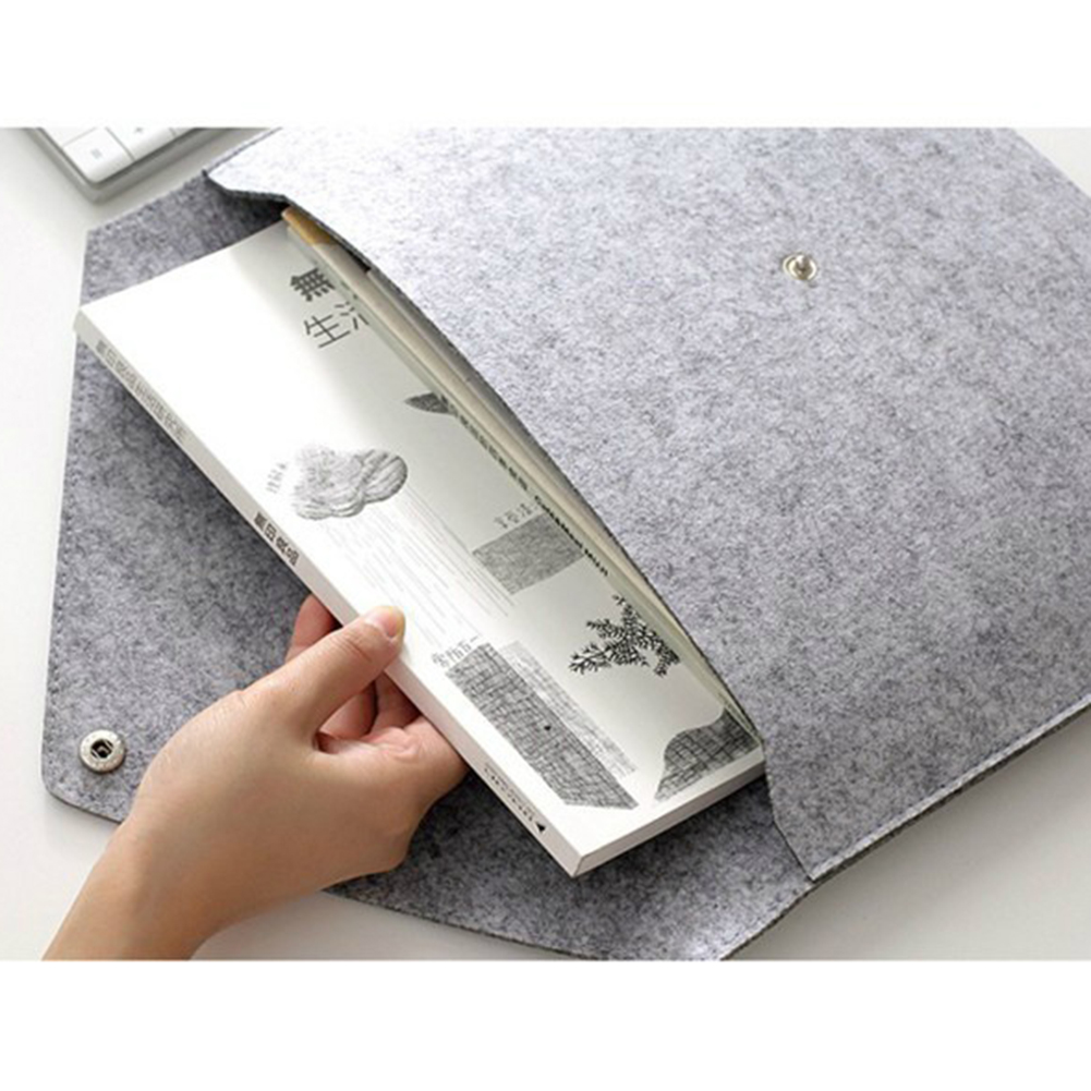 A3 Big Capacity File Folders Felt Bags Business Briefcases Stationery Organizer Storage Bag Document Cases Gift