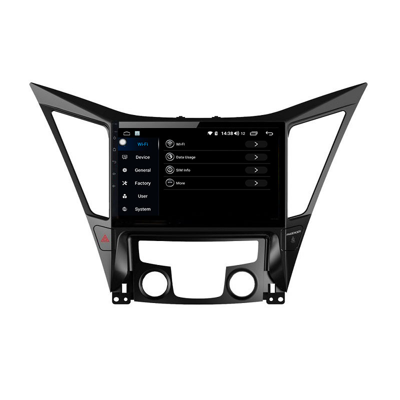 Flash Deal Sonata Android 9.0 8-core car radio 1din car bluetooth gps trackfor 2013-2017 Hyundai sonata 3