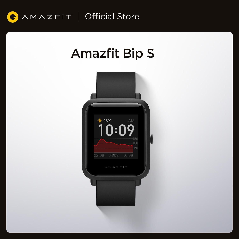In Stock 2020 Global Amazfit Bip S Smartwatch 5ATM waterproof built in GPS GLONASS Smart Watch Innrech Market.com