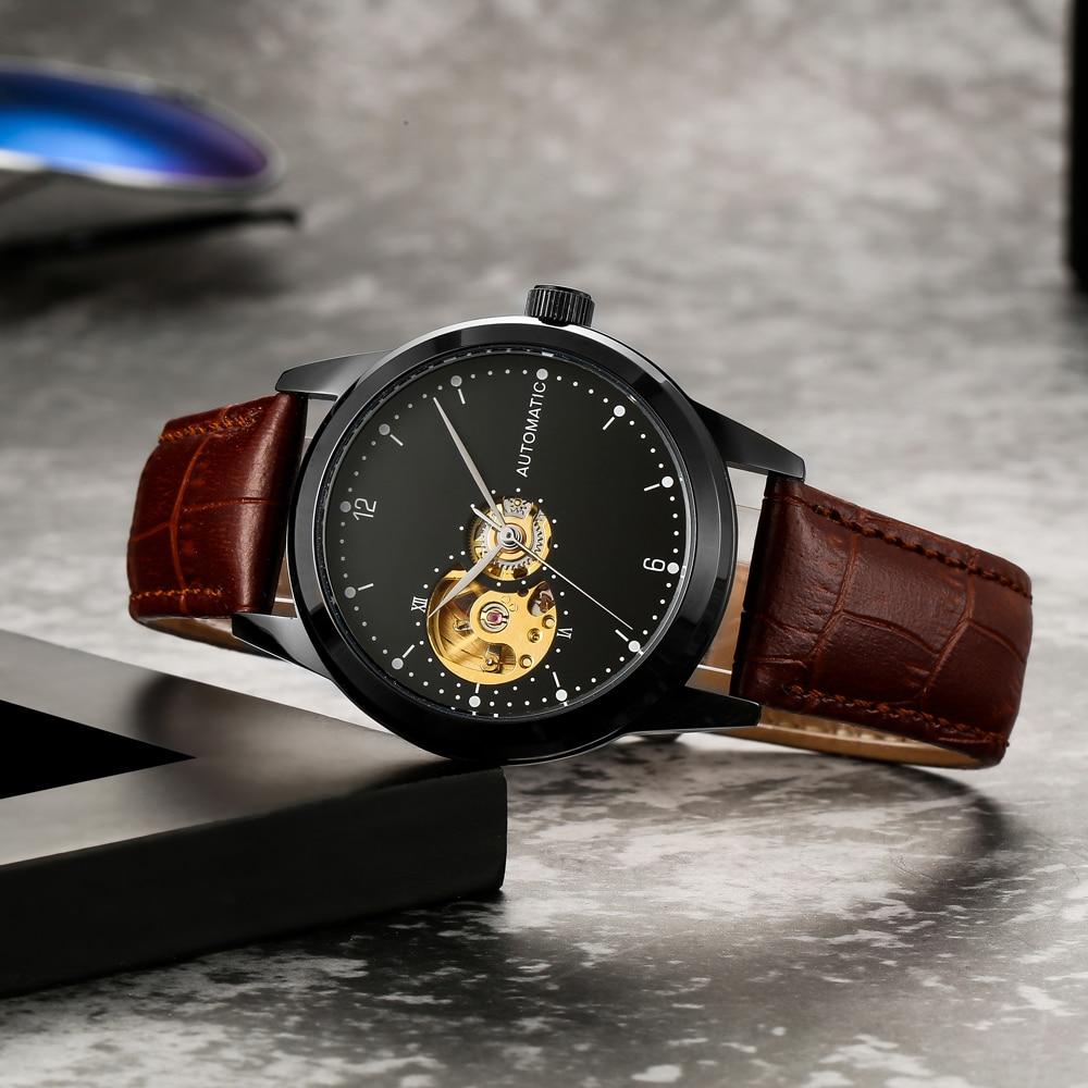 3 Years Warranty Women Mechanical Watches Automatic Gold Movement Reloj Automatico De Hombre Minimalist Automatic Watch Student