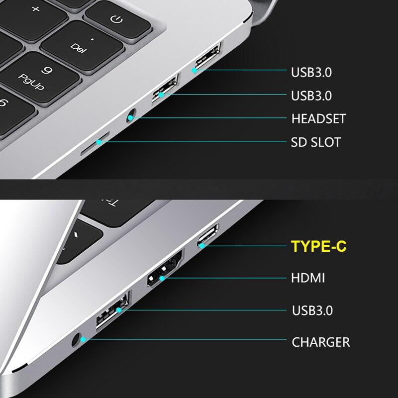 Core i7 Laptop 15.6 inch 8G/16G DDR4 RAM 128G/256G/512G/1TB SSD Notebook Computer Metal Body IPS Backlit Keyboard Laptop Gaming 5