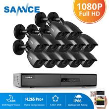 SANNCE 16 Channels CCTV Security System 16CH HD 1080P DVR 12