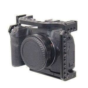 Image 4 - Camera Kooi voor Canon EOS R met Coldshoe 3/8 1/4 Draad Gaten Arca Swiss Quick Release Plate Camera Beschermhoes