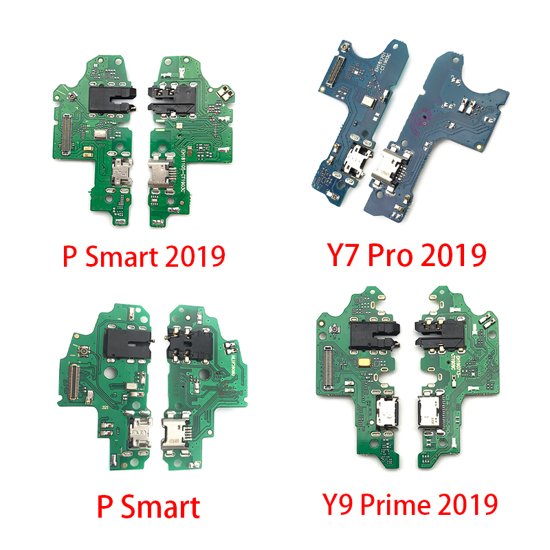 New Charging Port Connector Board For Huawei Y6 Y5 Y7 Pro Y9 Prime 2017 2018 2019 P Smart Charge USB Jack Flex Microphone Mic