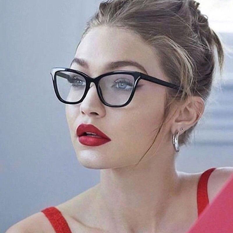 Vintage Cat Eye Glasses Frame Eyeglasses Women Reading Glasses Optical Glasses For Unisex Eyewear UV400 Transparent Fake Glasses