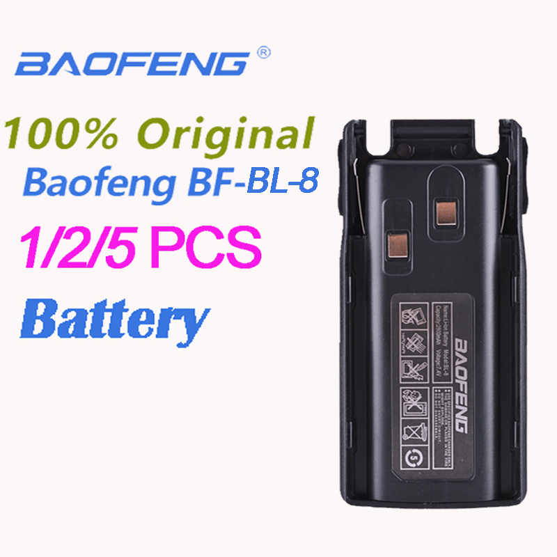 1/2/5PCS Original Baofeng UV-82 BL- 8 Li-ion Battery 7.4V 2800mAh For UV8D UV 82 Accessories Battery Radio Station Walkie Talkie