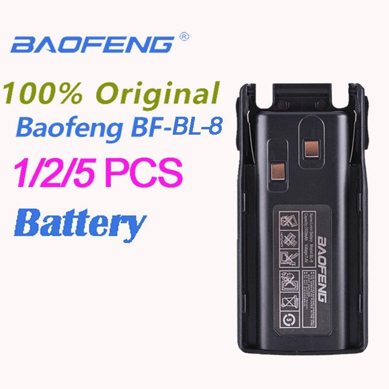 1/2/5PCS Original Baofeng UV-82 BL- 8 Li-ion Battery 7.4V 2800mAh For UV8D UV 82 Accessories Battery Radio Station Walkie Talkie