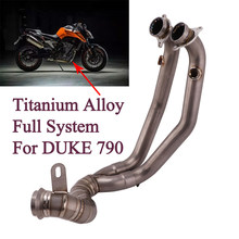 Titanium alloy Full System Front Link Pipe Motorcycle Exhaust Escape moto Muffler Slip-On Connector Adapter For DUKE 790 KTM 790(China)