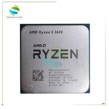 Процессор AMD Ryzen 5 3600 для ПК, центральный процессор для компьютера, 6 ядер, 12 нитей, мощность 65 Вт, частота 3600 ГГц, L3 = 32M, разъем AM4, 3,6 100