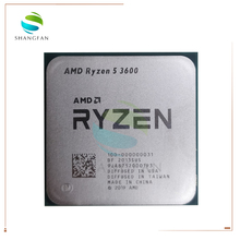 AMD procesador de CPU AMD Ryzen 5 3600 R5 3600 3,6 GHz, seis núcleos, 12 hilos, 7NM 65W L3 = 32M, 100 000000031 Socket AM4
