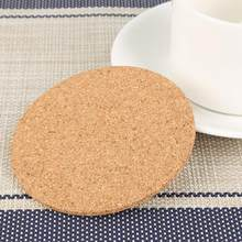Cup Mat Pad Natural Cork Coaster Heat Resistant Round Cork Heat Pads Beverage Drink Wine Mug Glass Mats For Dining Table Kitchen(China)