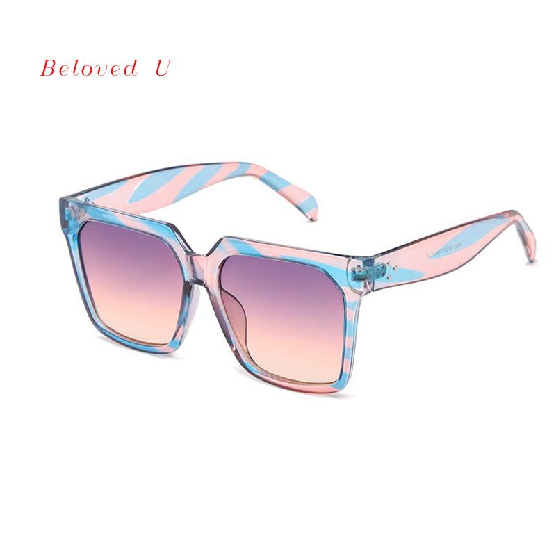 New Arrival Fashion Square Men Sunglasses UV400 Trendy Gradient Glasses Women 2019