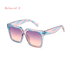 New Arrival Fashion Square Men Sunglasses UV400 Trendy Gradient Glasses Women 2019