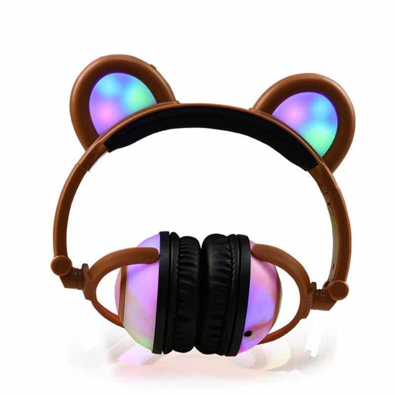 หมีเด็กหูฟังบลูทูธไร้สายหูฟังสเตอริโอหูฟัง kusdo หูฟังบลูทูธ ksun หูฟังไร้สายชุดหูฟัง