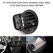 Ventilación de aire rejilla Panel cubierta de rejilla de ventilación de accesorios de aire del coche de la ventilación de rejilla negro Piano para Opel Corsa D Adam 2201099