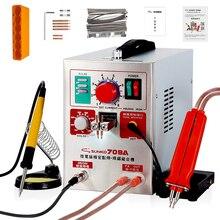 SUNKKO 709A saldatrice a punti 1.9KW LED saldatrice a punti a batteria a impulsi di luce per saldatori a punti di precisione per saldatura a pacco batteria 18650