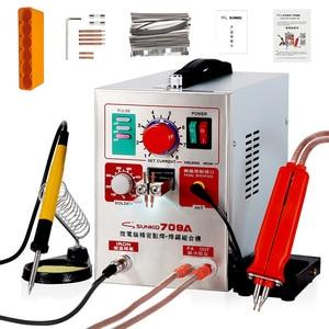 Image 1 - Sunkko 709a soldador do ponto 1.9kw conduziu a máquina de solda do ponto da bateria do pulso da luz para 18650 soldadores do ponto da precisão da soldadura do bloco da bateria
