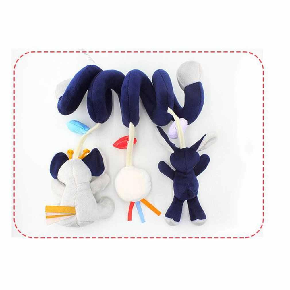 เด็กทารกน่ารักสัตว์ Rattle เตียงแขวนรถเข็นเด็กหมุน Plush Appease ของเล่น Teether พัฒนาการของขวัญ Rattles Toy