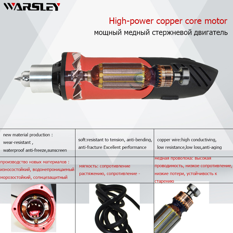 Image 5 - 480W mini high power electric drill dremel Style recorder with 6 variable speed positions for rotary tools mini grinder engraver-in Electric Drills from Tools on