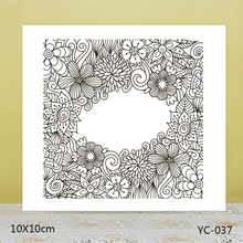 AZSG Flowers blessings Clear Stamps For DIY Scrapbooking/Card Making/Album Decorative Rubber Stamp Crafts