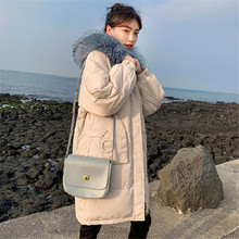 New Womens Down Jacket Winter Female Thicking Fur Hooded Oversize Parka Coat Long 90% Outwear White Duck