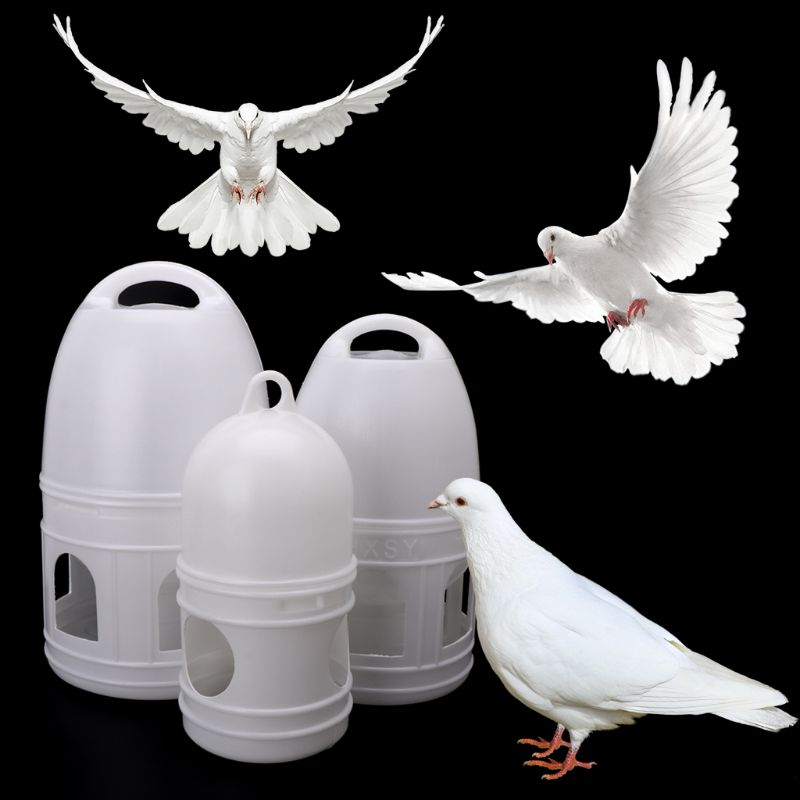 1.2L/3L/5L Birds Drinker Feeder Automatic Poultry Waterer Drinking Feeding Containers Water Cup Box For Pigeon Bird