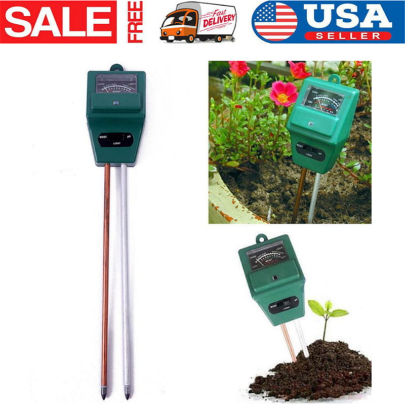 3 In1 PH Tester Soil Water Moisture Light Test Meter Kit For Garden·Flower-Plant
