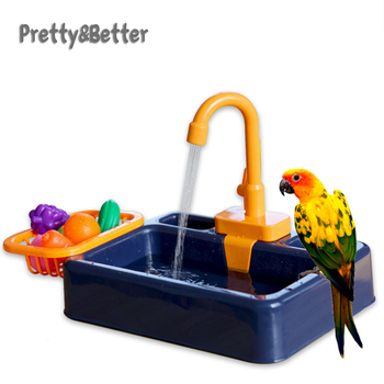 Ładne i lepsze papuga okoń prysznic Pet oczko wodne klatka umywalka papuga wanna umywalka papuga prysznic miska ptaki akcesoria zabawka papuga tanie i dobre opinie Ptak Kąpiele Z tworzywa sztucznego