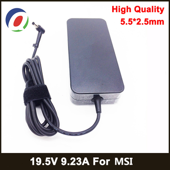 180W Power Supply 19.5V 9.23A 5.5*2.5mm Laptop Adapter for Asus for MSI GE72VR GS63VR WS63VR GS43VR GT60 GT70 ADP-180MB Charger msi gs43vr 7re 202xru phantom pro black