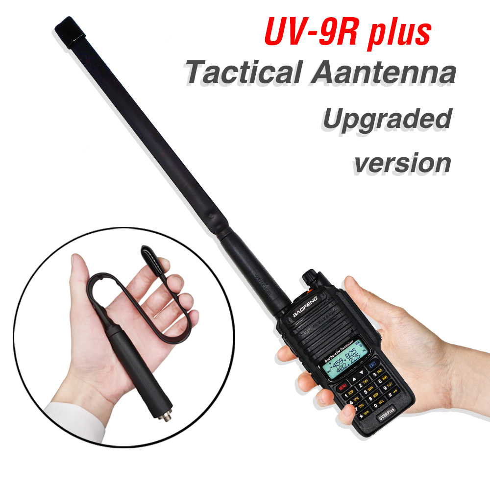 33CM CS Tactical Antenna Foldable SMA-Female Dual Band VHF UHF For Baofeng Walkie Talkie UV-9R Plus Uv-9r UV9R Two Way Radio