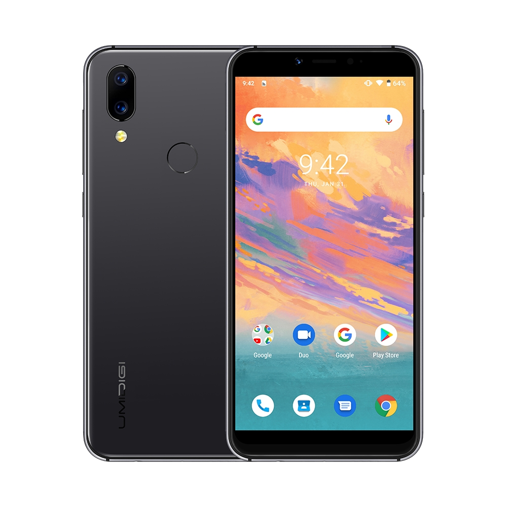 "UMIDIGI A3S Smartphone 5.7"" Incell display 2GB+16GB MTK6761 Quad core Android 10 OS 16MP+5MP Dual 4G Global Version Mobile phone"