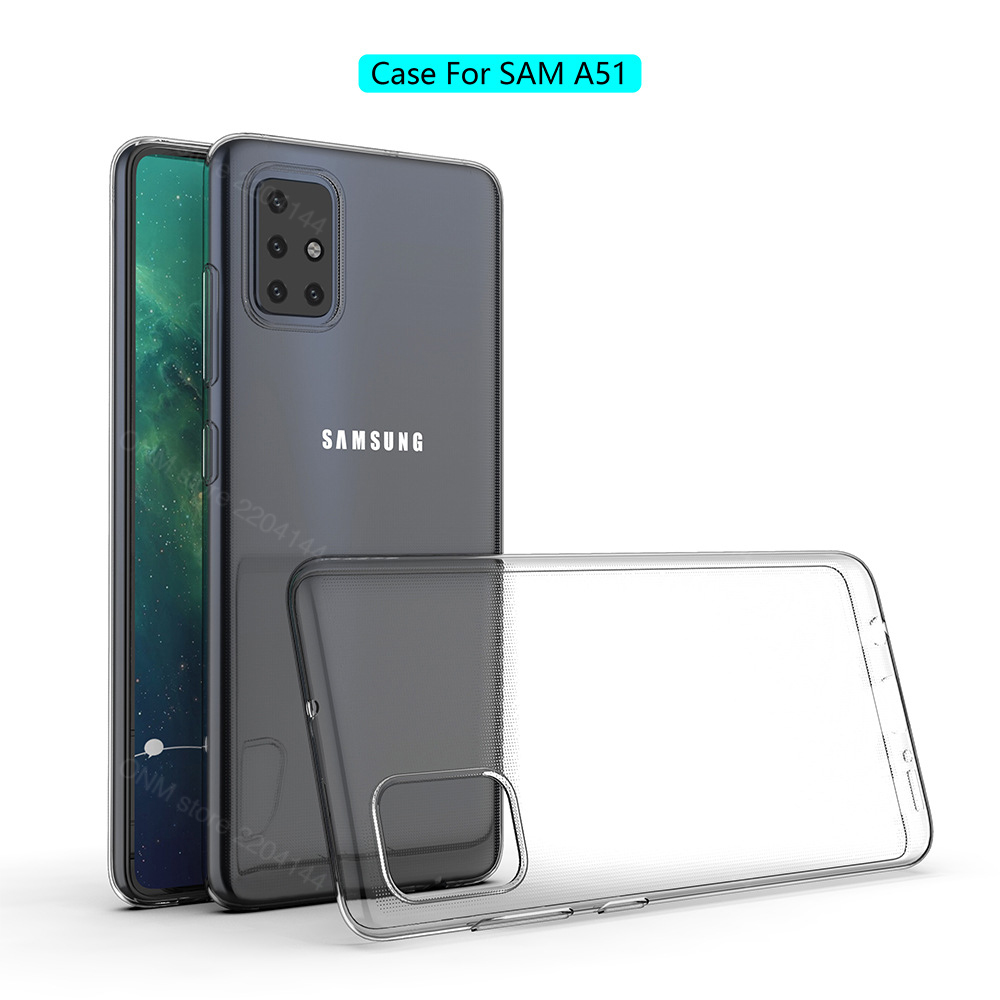 Case For Samsung Galaxy A51 TPU Silicon Clear Fitted Bumper Soft Case For Samsung Galaxy A51 5G Transparent Back Cover A51