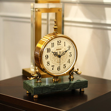 Relojes de escritorio de péndulo clásico, reloj de mesa decorativo, relojes de mesa de Metal Retro, reloj silencioso Vintage en la mesa para la sala de estar