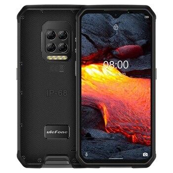 Купить Ulefone Power 9E прочный мобильный телефон Android 10 Helio P90 8 ГБ + 128 ГБ 2,4G/5G Wi-Fi IP68 64MP 5 камеры глобальная версия смартфона