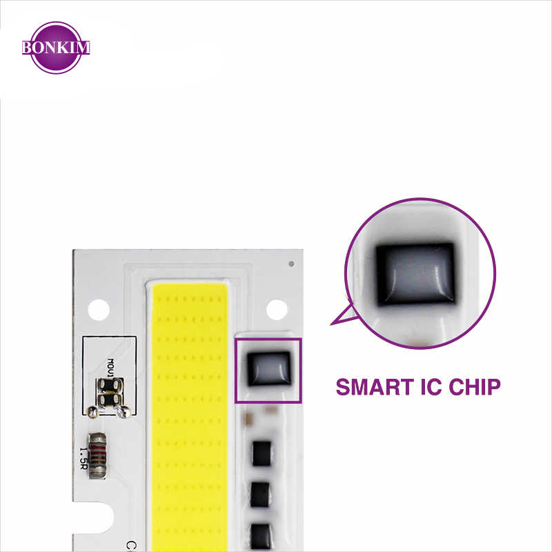 LED COB Smart Chip Mit Linse Reflektor Silikon Ring 30W 50W 70W 100W 150W Kalt warm Weiß AC 110V 220V Geeignet Für Lager