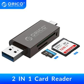 ORICO 2 In 1 Multifunction Card Reader USB 3.0 Type-C SD TF OTG Memory Card High-Speed for PC Computer Laptop Accessories