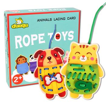 Zwierzęta kreskówkowe liny koraliki zabawki gwintowanie liny gry zabawki edukacyjne wczesna edukacja sztuka i rzemiosło zabawki dla majsterkowiczów tanie i dobre opinie surwish 5 ~ 7 Lat 8 ~ 13 Lat Chiny certyfikat (3C) Rainbow papieru 2682427 none Zwierzęta i Natura
