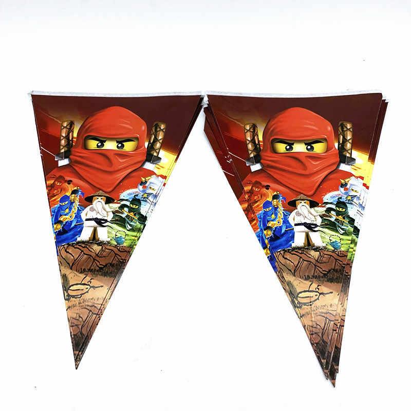 Nuevo número Legoing nanjagoing tema vajilla de decoración de fiesta plato y vaso de papel globos para baby shower niños cumpleaños fiesta suministros