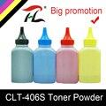 HTL cartucho de toner compatible para samsung CLT-406S CLT-K406S C406S M406S Y406S CLP-360 365w 366W CLX-3305 C460FW 3306FN 3305W