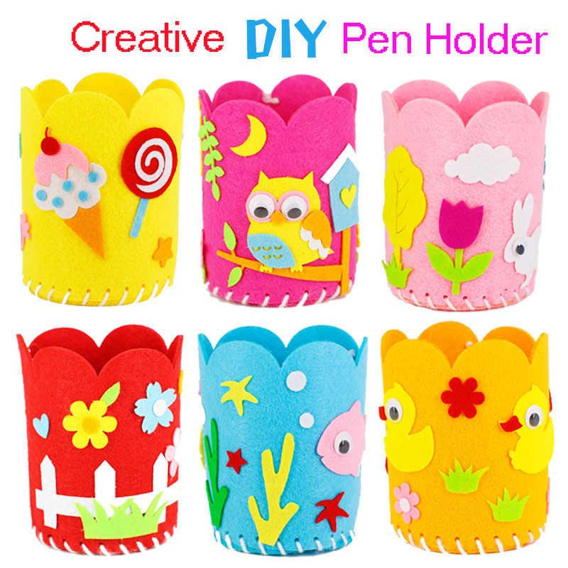 Creative Kids Children DIY Pen Container Holder Crafts Kit Educational Toys