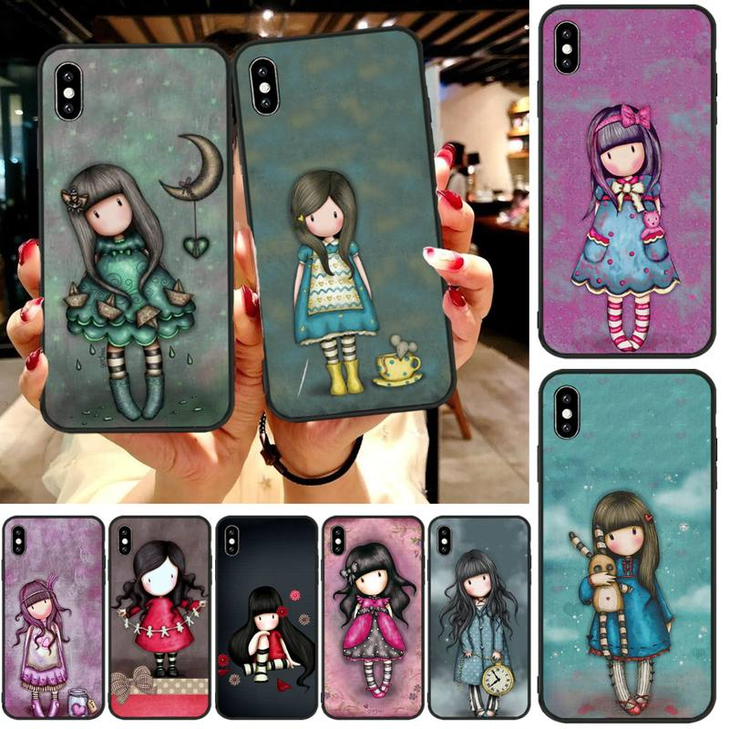 ByLoving Cartoon Lovely Santoro Gorjuss Phone Case Cover For iphone6 6s plus 7 8 7 8 plus X XR XS MAX 11 Pro Max Cover(China)