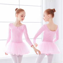 Kids Long Sleeve Dance Leotard Dresses Girls Ballet Tulle Dress Ballet Clothing Set Dance Costumes dora the explorer little girls ballet dance pajama set