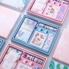 Girls heart and hand account set simple ins wind tool material paper tape lovely notebook gift