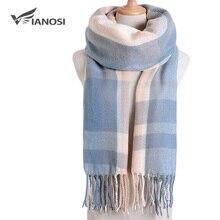 [VIANOSI] роскошный зимний шарф в клетку, Женский тёплый платок, шарфы, модные шарфы на каждый день, кашемировые шарфы