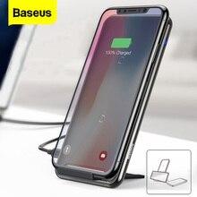 Baseus 10W 2/3 cewki bezprzewodowa ładowarka Qi dla iPhone 11 Pro Max Xr Samsung S10 S9 szybka bezprzewodowa stacja dokująca do ładowania stacji dokującej