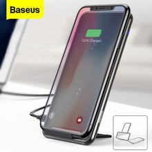 Baseus 10W 2/3 סלילי צ י אלחוטי מטען עבור iPhone 11 פרו Max Xr סמסונג S10 S9 מהיר אלחוטי טעינת Pad עגינה Dock תחנה