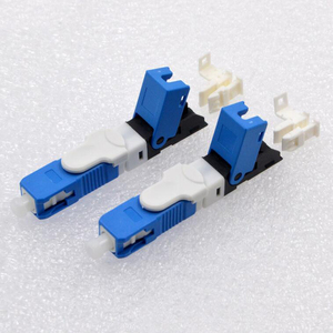 Image 3 - 100PCS FTTH SC UPC Optical fibe quick connector SC PC FTTH Fiber Optic Fast Connector Embedded type ESC250D SC Connector
