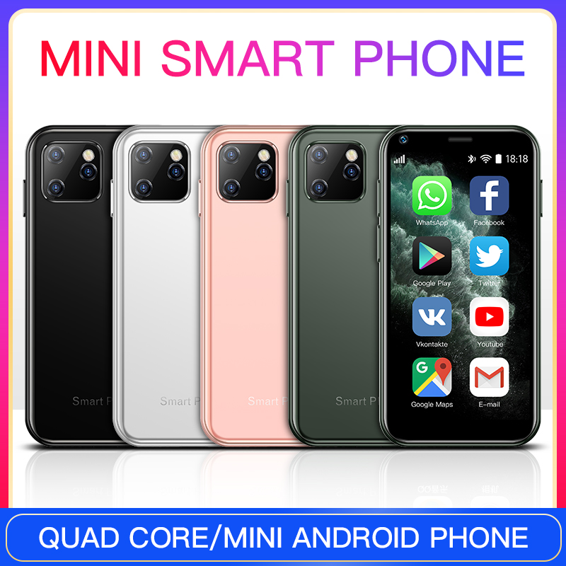 SOYES XS11 Mini teléfonos celulares Android 6,0 con 3D de vidrio cuerpo delgado HD Cámara Quad Core Google Play mercado lindo teléfono PK 7S S10