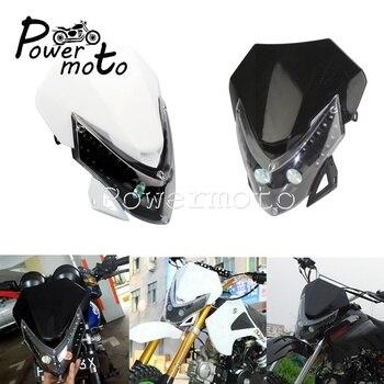 Faro de visión LED para Motocross todoterreno, SMD, Supermoto, Alien, iluminación frontal...