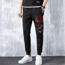 Rhinestones-Pants Joggers Long-Trousers Spring Fitness Male Men's High-Street Hip Skull